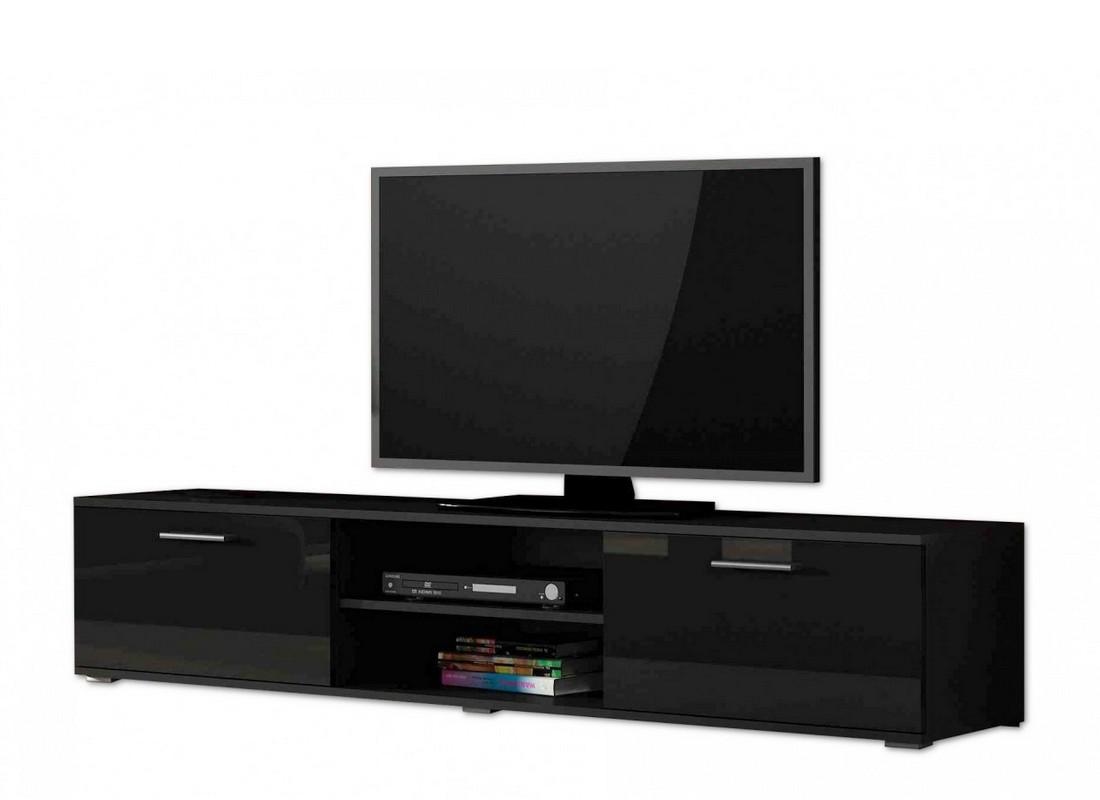 tv schrank soho s-3, tv unterschrank, tv lowboard - schwarz +