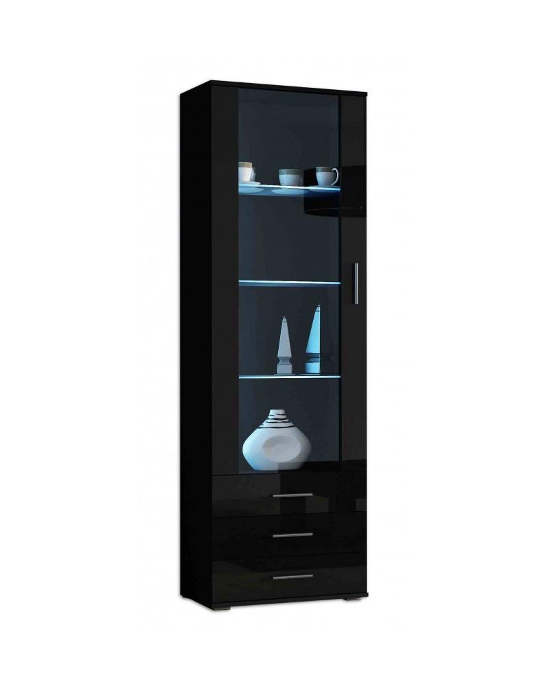 vitrine soho schwarz schwarz hochglanz ebay. Black Bedroom Furniture Sets. Home Design Ideas