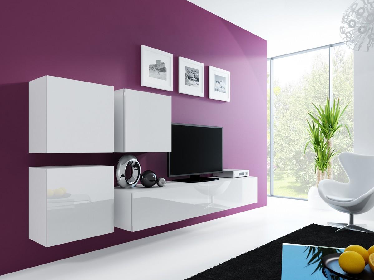 wohnwand anbauwand vigo in mdf hochglanz pusch click. Black Bedroom Furniture Sets. Home Design Ideas