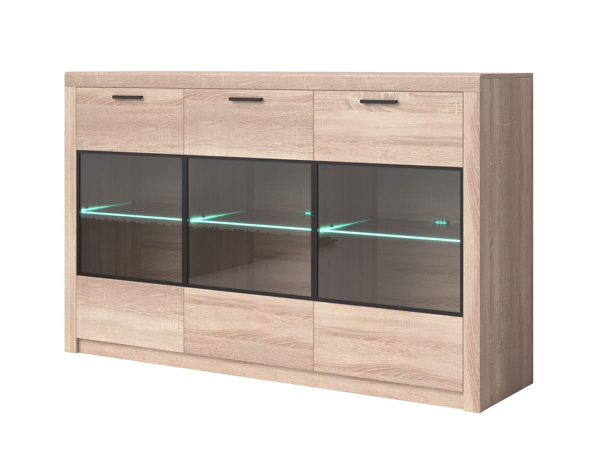 kommode sideboard nemezis mit beleuchtung ebay. Black Bedroom Furniture Sets. Home Design Ideas