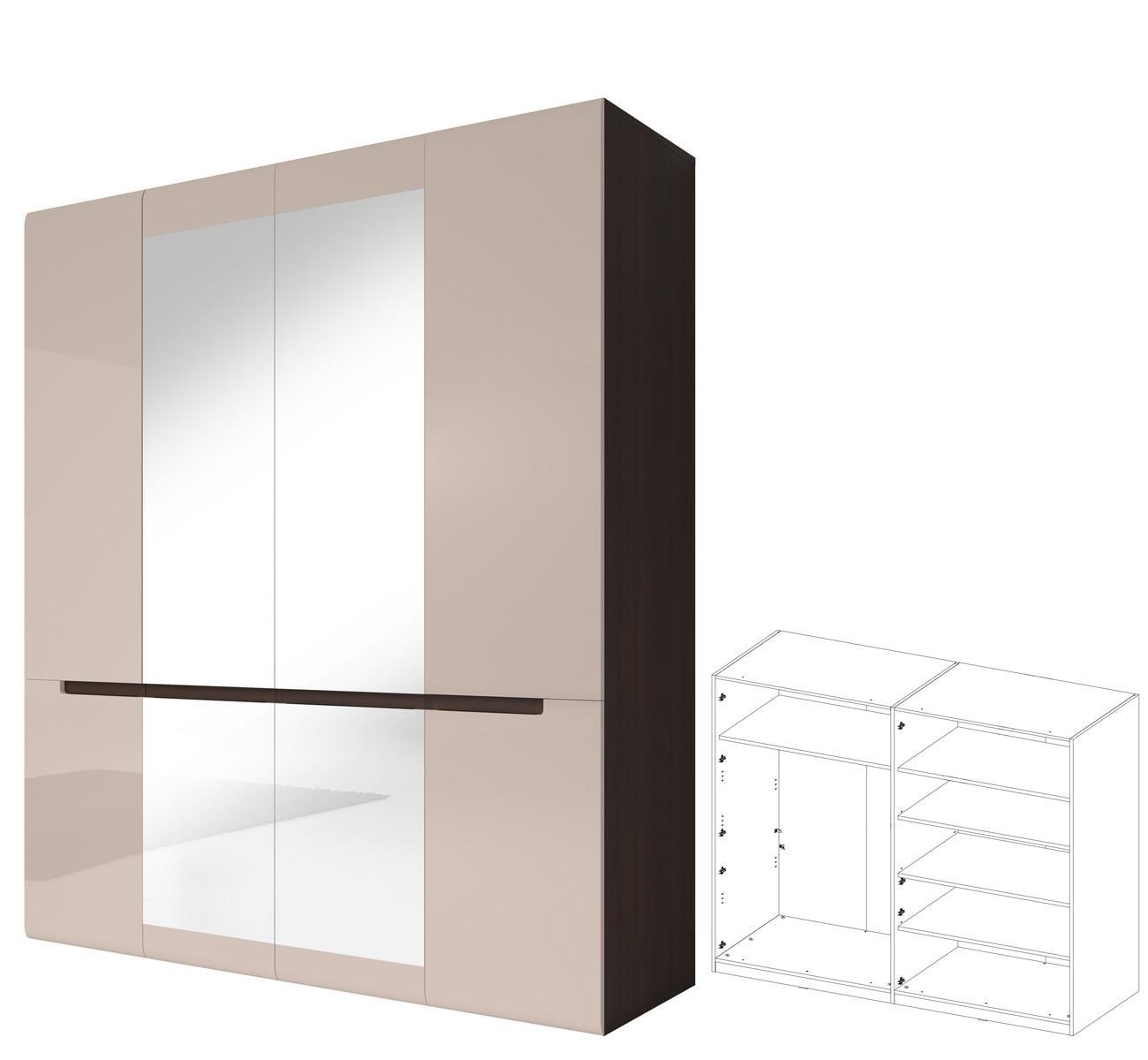 kleiderschrank hector dreht renschrank schlafzimmerschrank in hochglanz 605349685491 ebay. Black Bedroom Furniture Sets. Home Design Ideas