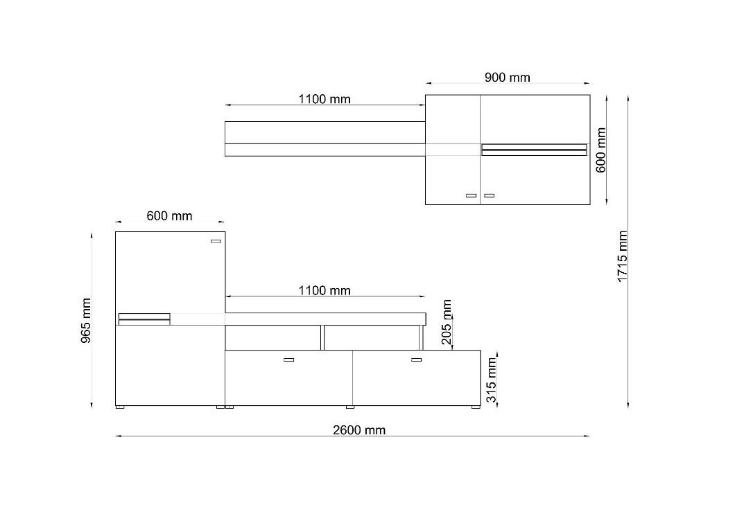 Wohnzimmer Kiefer Grau Zu Wohnwand JET Anbauwand