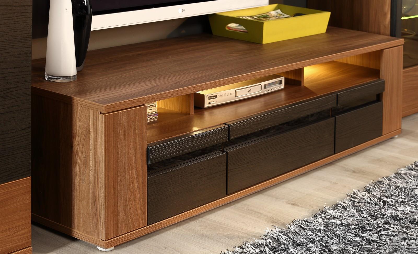 moebel24 pl wohnwand ulm mit led beleuchtung hochglanz ebay. Black Bedroom Furniture Sets. Home Design Ideas
