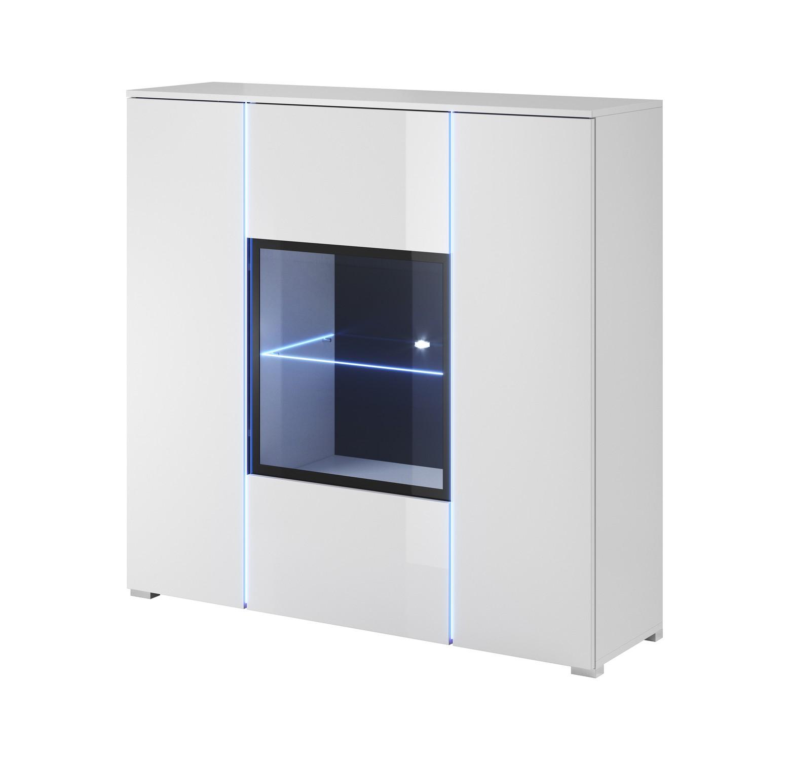 kommode highboard simple mit beleuchtung ebay. Black Bedroom Furniture Sets. Home Design Ideas