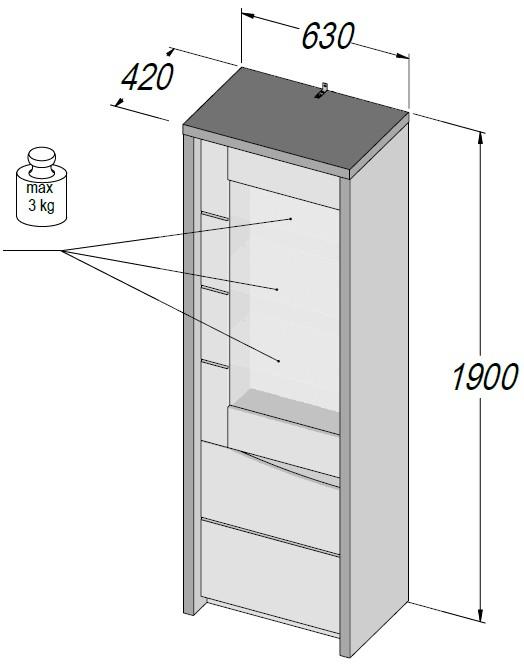 kleiderschrank tropez mit beleuchtung weiss 28 images. Black Bedroom Furniture Sets. Home Design Ideas