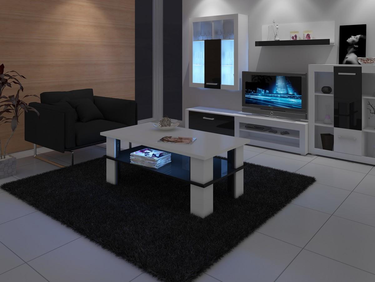Couchtisch FUTURA2 weiß matt+schwarz hochglanz  eBay