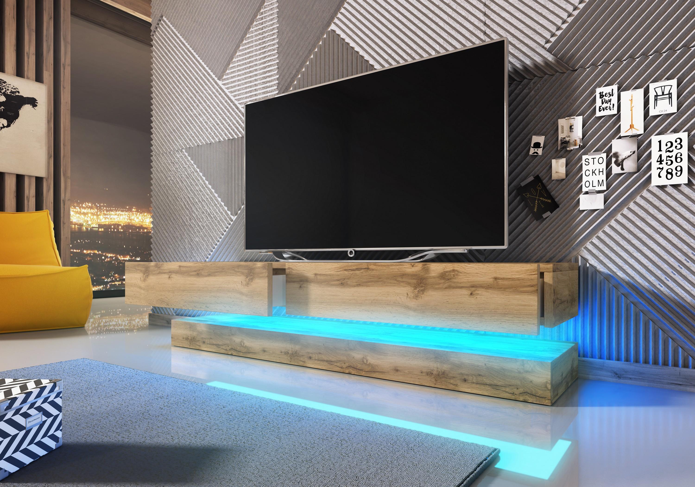 Tv Schrank Fly Lowboard Unterschrank Hängeschrank Super Hochglanz Ebay
