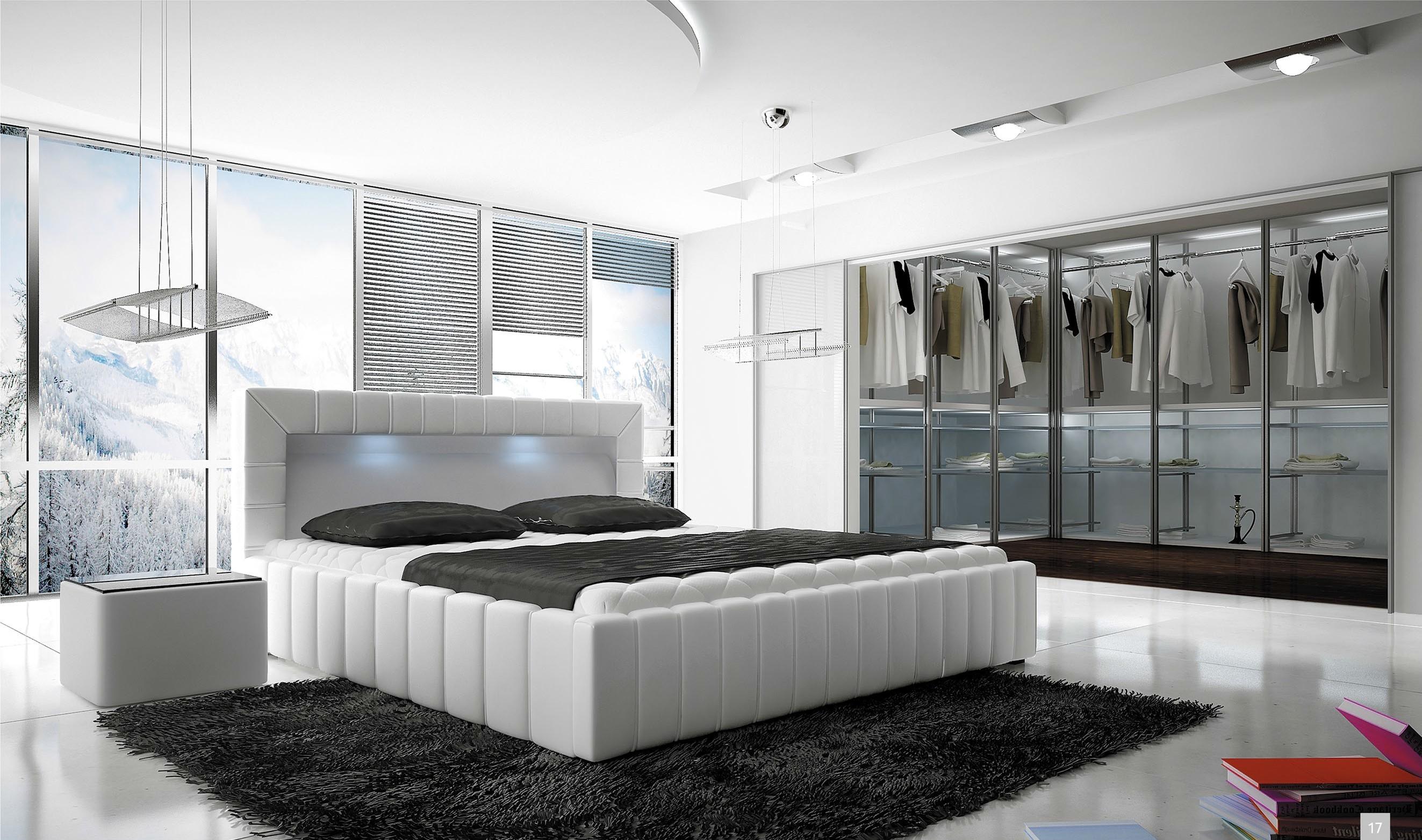 bett polsterbett lucca 160x200 mit led bettkasten. Black Bedroom Furniture Sets. Home Design Ideas