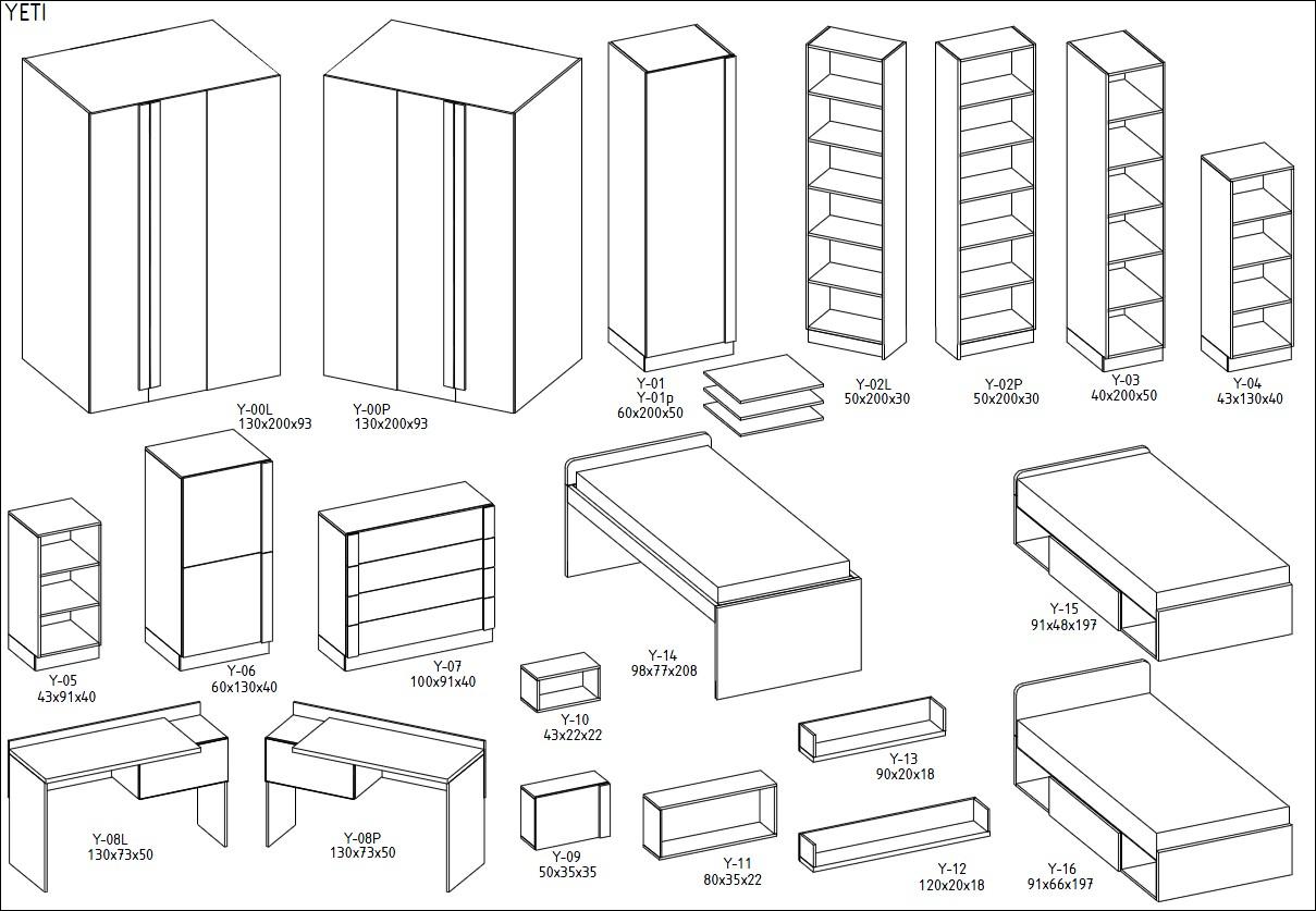 begehbarer kleiderschrank yeti beleuchtung hochglanz ebay. Black Bedroom Furniture Sets. Home Design Ideas