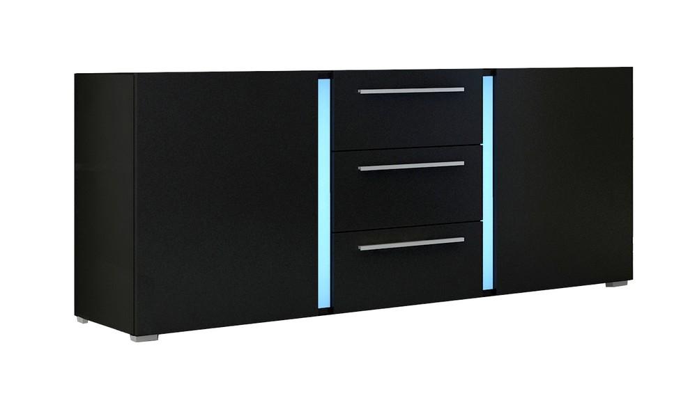 moebel24 pl kommode kassel mit led beleuchtung hochglanz ebay. Black Bedroom Furniture Sets. Home Design Ideas