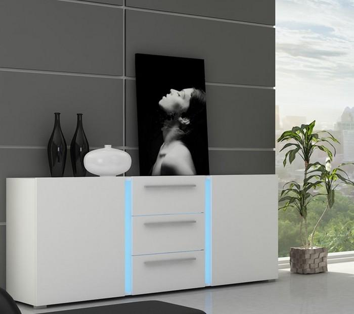 moebel24 pl kommode kassel mit led beleuchtung. Black Bedroom Furniture Sets. Home Design Ideas