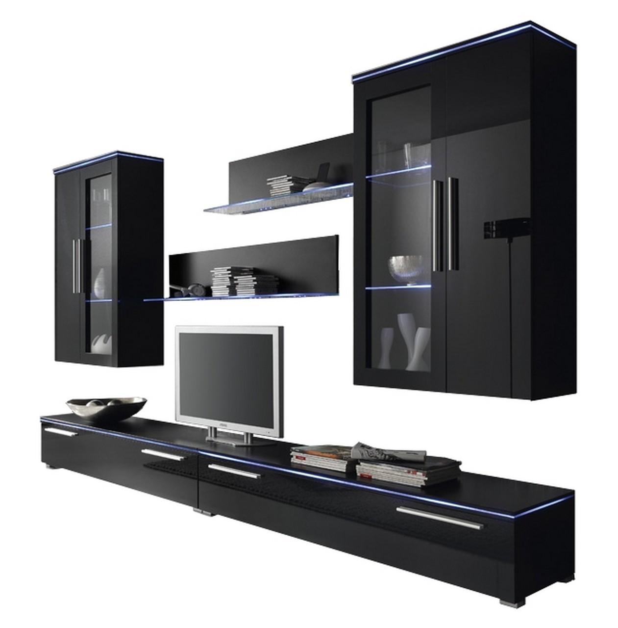 moebel24 pl wohnwand leverkusen mit rgb beleuchtung hochglanz ebay. Black Bedroom Furniture Sets. Home Design Ideas
