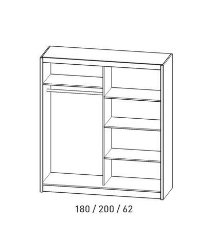 kleiderschrank schiebet renschrank wiki ebay. Black Bedroom Furniture Sets. Home Design Ideas
