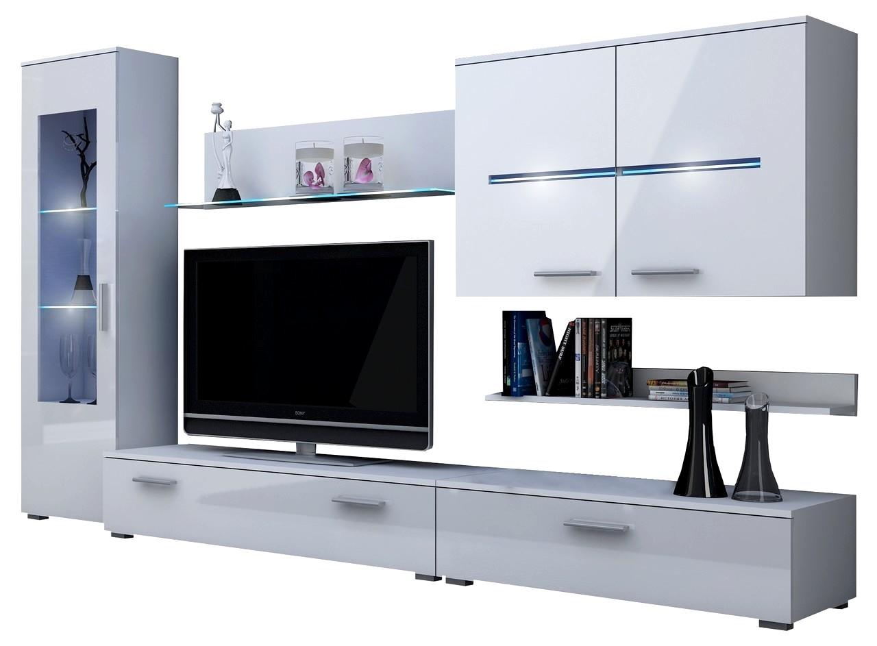 moebel24 pl wohnwand stuttgart mit rgb beleuchtung. Black Bedroom Furniture Sets. Home Design Ideas