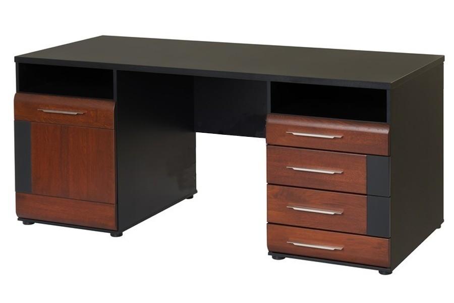 schreibtisch vievien massivholz montiert ebay. Black Bedroom Furniture Sets. Home Design Ideas